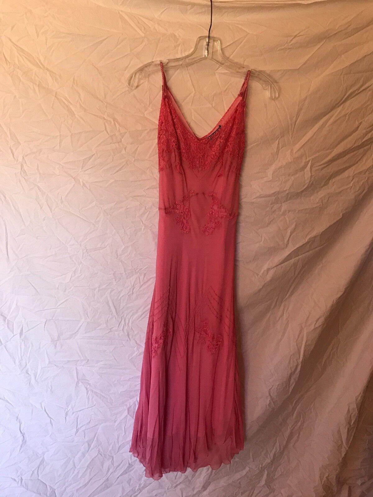 Betsy Johnson Rosa beaded Silk dress Größe 6