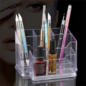 Nail-Art-Tool-Acrylic-Holder-Box-Files-Organizer-Polish-Storage-Case-Makeup-Tool