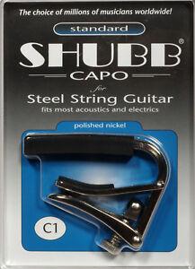 Shubb Guitar Capo Nickel Poli Gc-20a-afficher Le Titre D'origine Rwhd18ir-07180334-362127469