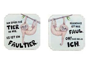1-x-Schild-Weisheit-Faultier-Hoehe-19-cm