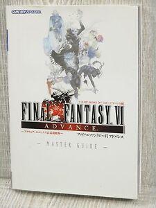 FINAL-FANTASY-VI-6-Advance-Official-Master-Guide-w-Poster-Book-Game-Boy-VJ