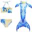 Indexbild 9 - Bademode Schwanz Badeanzug Meerjungfrau Bikini Mädchen Kinder Kostüm Schwimmen