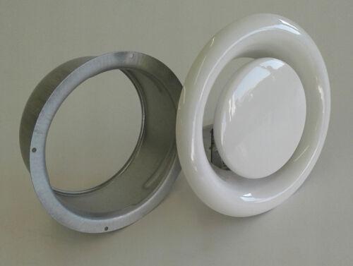 Abluftventil Lüftungsventil Tellerventil Stahl verzinkt mit Einbaurahmen DN 125