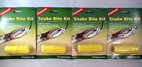 4 Pk Snake Bite Kit Camping Emergency Survival First Aid Venom Sting Extractor