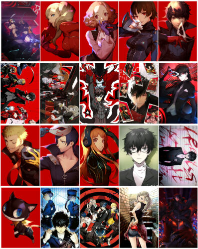 20 cards Persona 5 Card Paster Card Stickers A018