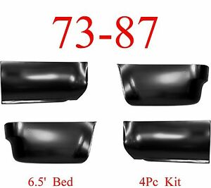 6.5 Foot 73 87 91 Chevy Rear Lower Panel Set GMC Truck Quarter Blazer /& Jimmy