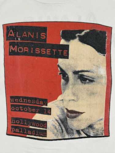 Vintage 90s Alanis Morissette Concert Hollywood Pa
