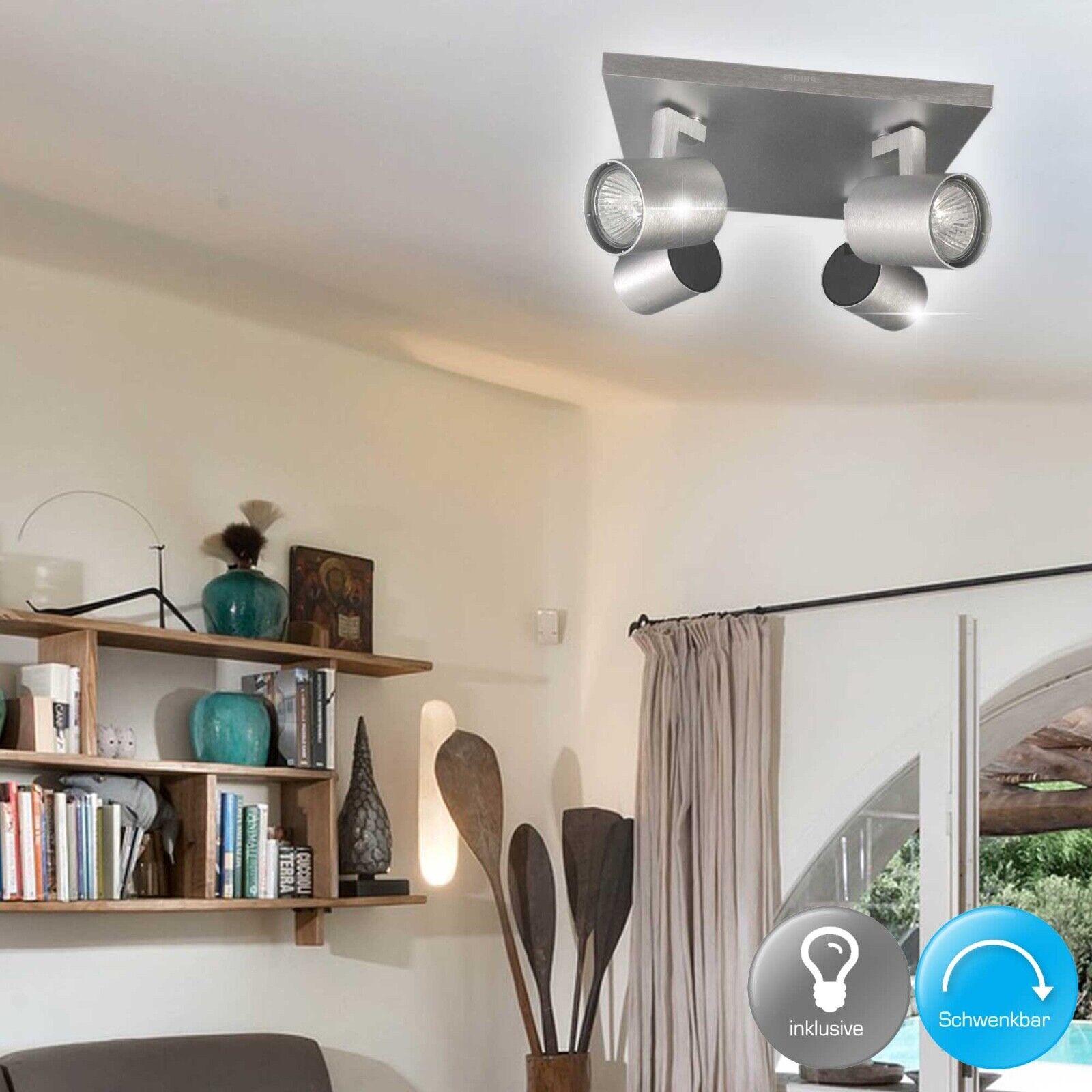 Philips Hiro 4 530944816 GU10 Lampe Aluminium Flg Spot ...