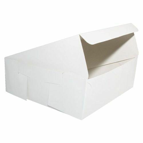 250 x Fold Flat Cake Boxes 8 x 8 x 3  CupCake Muffin Weiß Cardboard Box