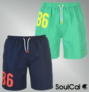 b1efddee Details about Mens SoulCal Elasticated Drawstring Large Logo Swim Shorts  Sizes from S to XXL