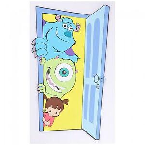 Image Is Loading Disney Pixar Monsters Inc Wall Decor Silhouette Brand