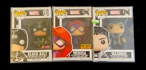Funko Pop Marvel Inhumans Black Bolt #191 Medusa #255 Maximus #256 w/Protectors