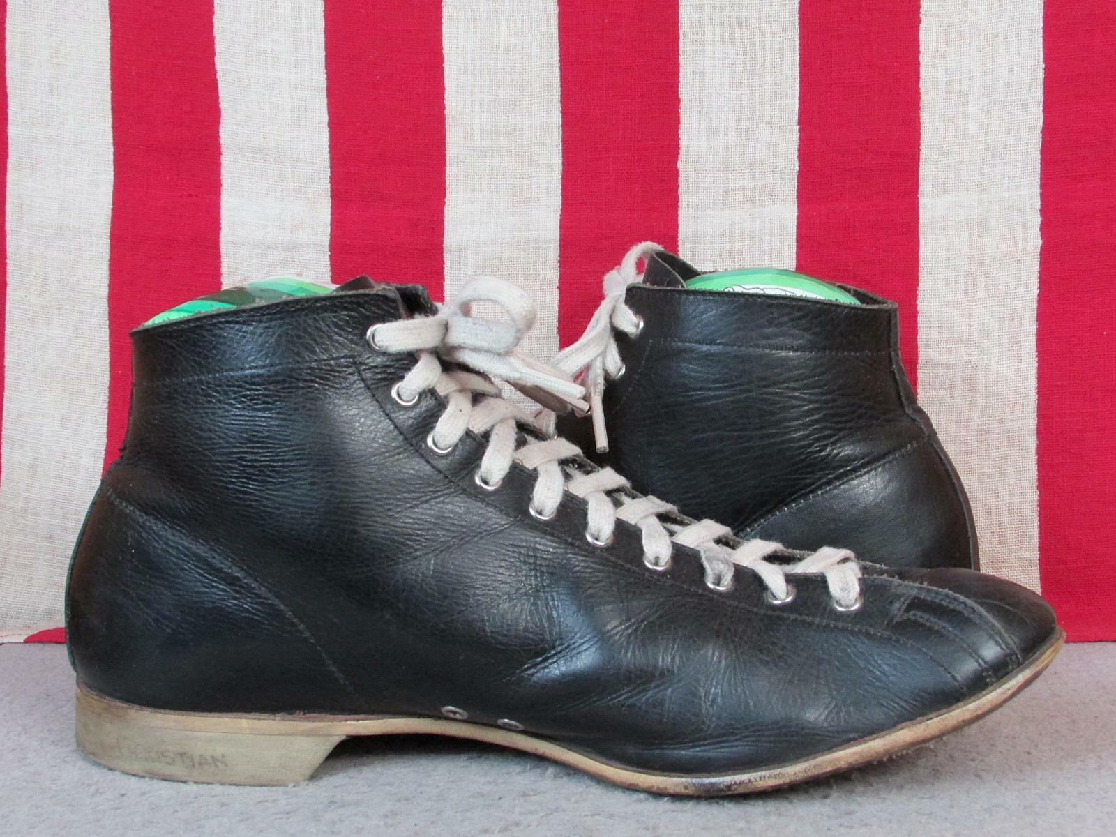 Vintage 1930s Black Leather High Top Athletic Sho… - image 6