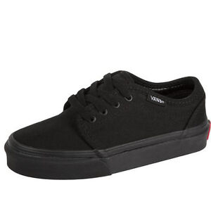 fc11742443 Image is loading Vans-106-VULCANIZED-Black-Slightly-Padded-Tongue-Canvas-