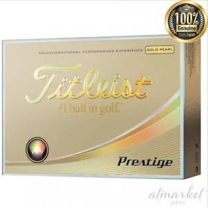 NEW-TITLEIST-golf-ball-Prestige-3-piece-12-pieces-gold-pearl-T5023S-J-From-JAPAN