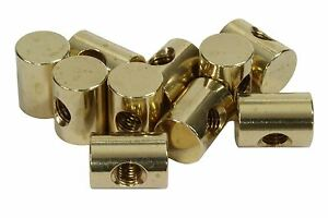 Details about Traditional Truss Rod Anchor Barrel Nut Brass 10-32 thread  1/2