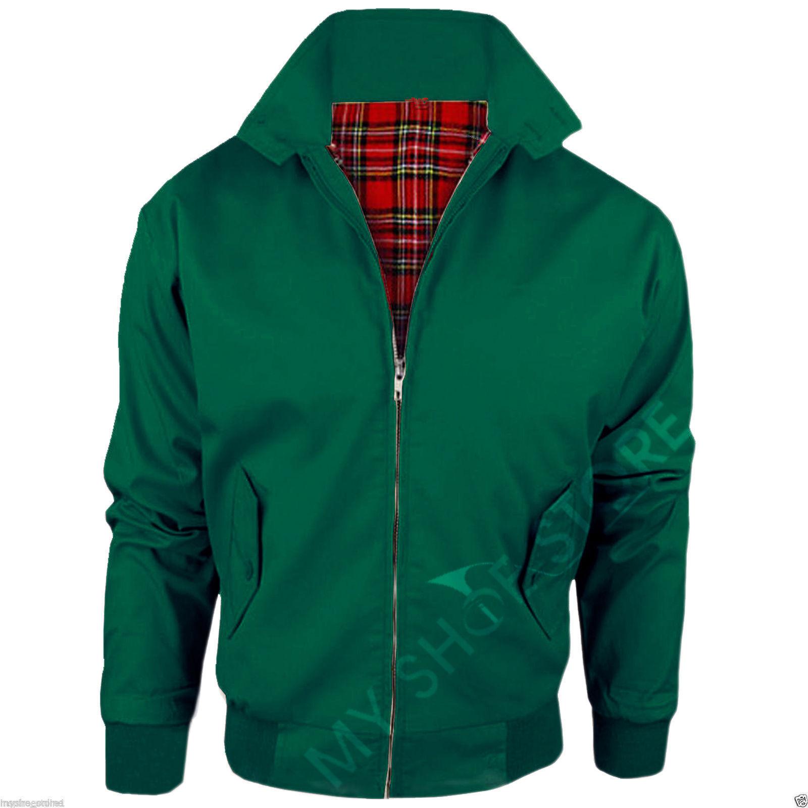 Green / Harrington Jacket Unisex Ladies Women