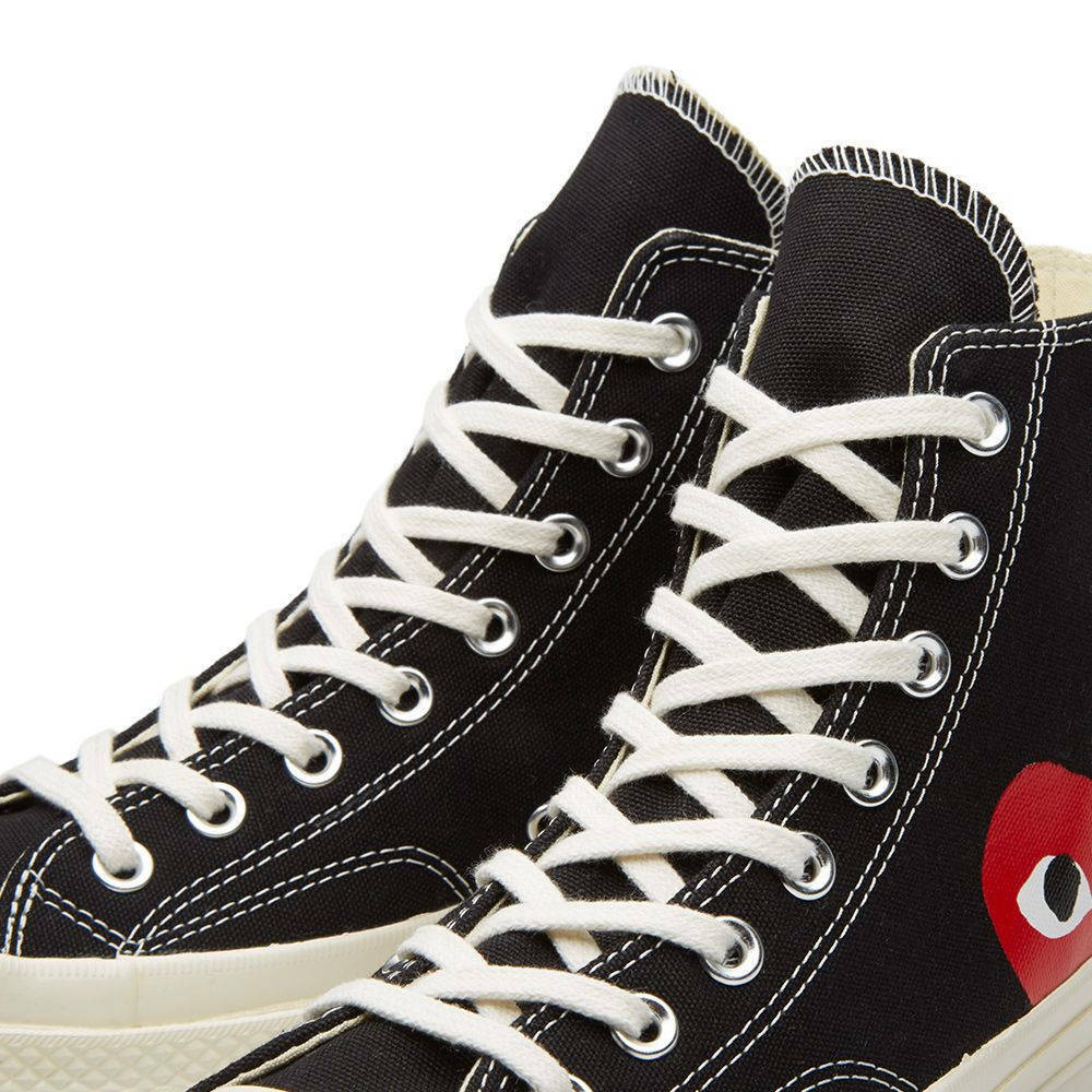 Comme Comme Comme des Garcons Play x Converse Chuck Taylor Black White Red High dd93c4