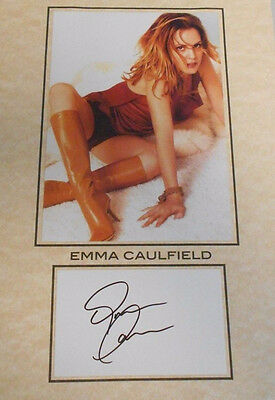 Actress 8.5 X 11 Total Size W/coa Large Assortment Trustful Emma Caulfield Hand Signed Card W/photo