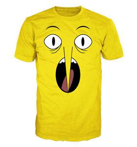 Adventure Time T Shirt Zitrone Greiff Gesicht Nicht Annehmbar