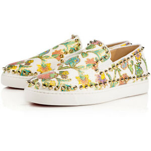 835f00a37cac4 Image is loading NIB-Christian-Louboutin-Pik-Boat-White-Tapisserie-Spike-
