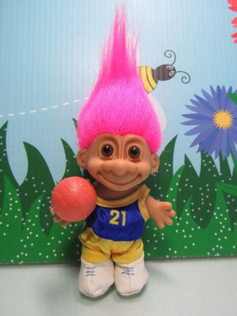 Basketball Player 5 Russ Troll Doll New In Original Wrer Pink Hair