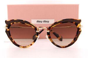 fbb150399f12 Brand New Miu Miu Sunglasses MU 05SS VIF 3D0 Havana Brown Gradient ...