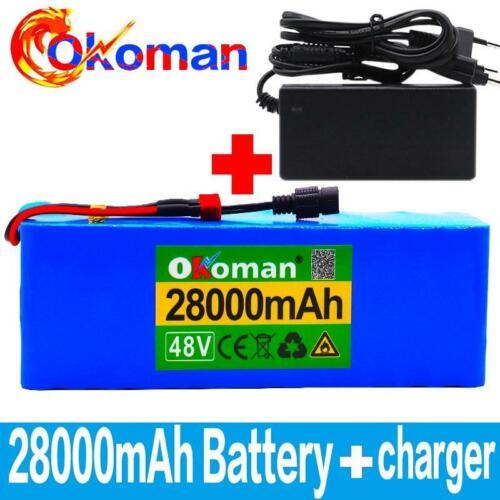 48V 28AH Li-ion Battery Volt Rechargeable Bicycle 1000W E Bike Electric Li-ion