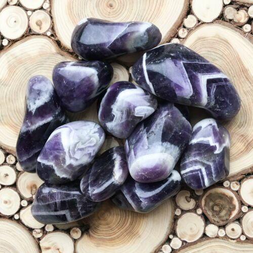 Large Chevron Banded Amethyst Tumblestones 100g Wholesale Crystal Therapists