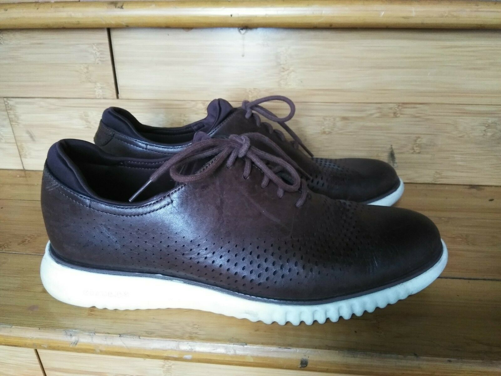 Cole Haan Grand OS Mens Brown Leather  shoes Oxford Sneakers lace up 10 M