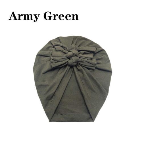 Newborn Headband Hat Cotton Baby Infant Turban Knot Headband Head Wrap For Girls