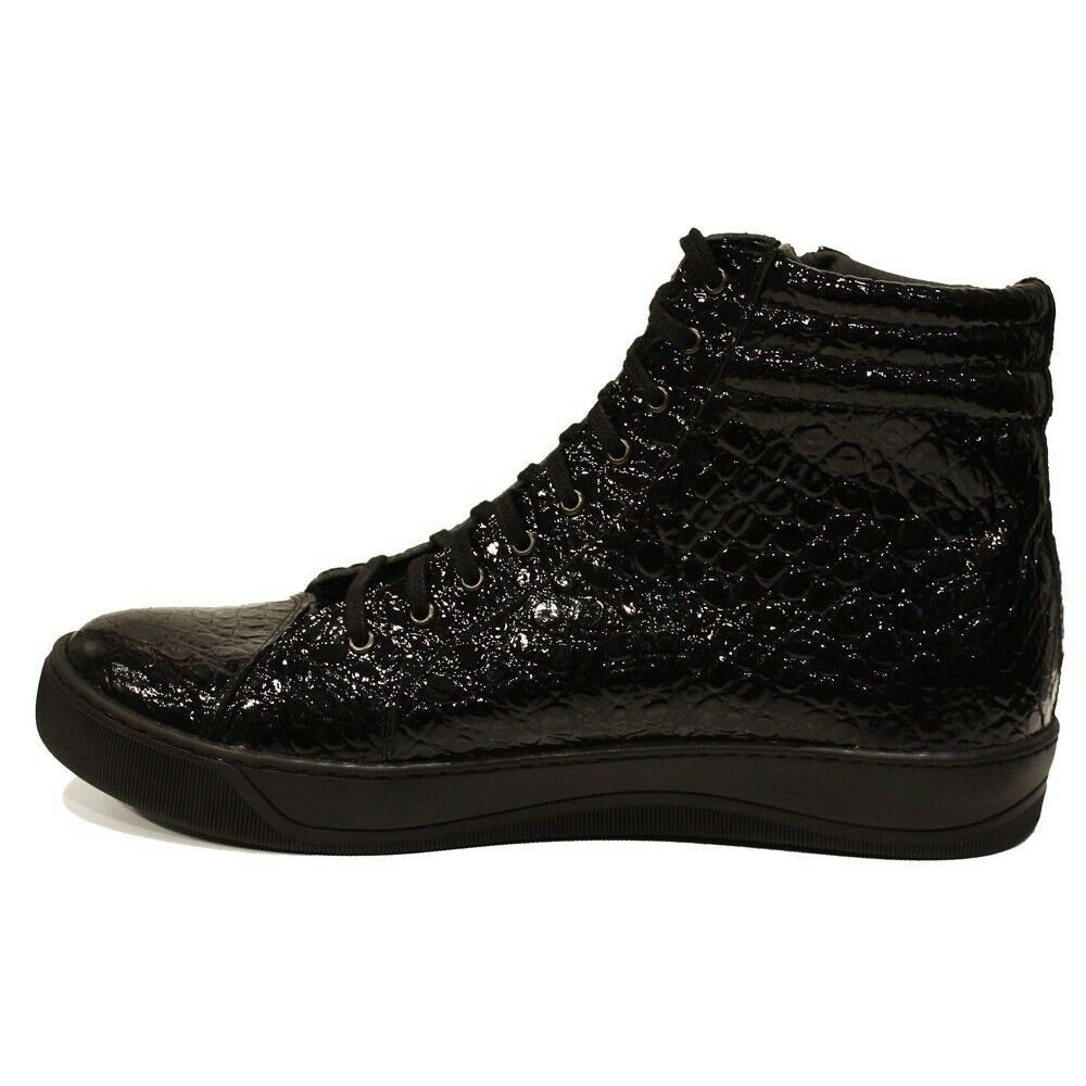 Modello Anamo - Handmade Italian Black Fashion Sneakers Casual Shoes - Cowhide E
