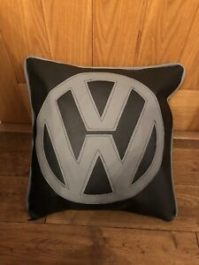 17-Faux-Leather-Vw-Grey-amp-Black-Cushion-Inner-Campervan-Choose-Colour