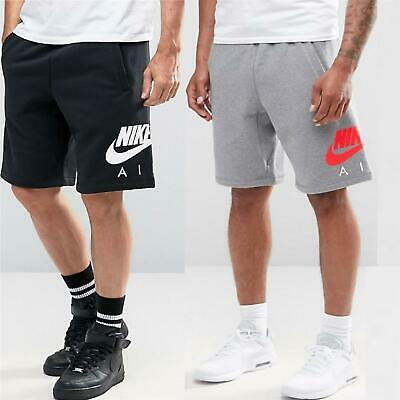 Nike Air Mens Fleece Shorts Sports Fitness Gym Casual Training Jogging  Short | eBay