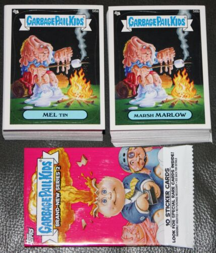 2013 TOPPS GARBAGE PAIL KIDS BRAND NEW SERIES BNS 2 COMPLETE BASE SET WRAPPER