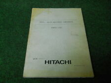 Hitachi UH10-7 UH123 Excavator equipment components Parts list manual  P156-E1-2