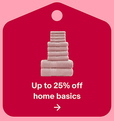 Up to 25% off home basics