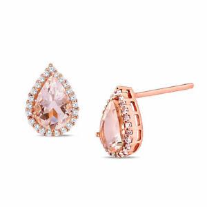10k-Rose-Gold-1-Ct-TGW-Morganite-and-1-10-ct-TDW-Diamond-Halo-Stud-Earrings