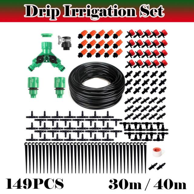10M Automatische Anlagen Bewässerungssystem Micro Drip Beregnung Kit Aufgerüstet