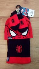 New Baby Boy Spider-Man Marks & Spencer Hat, Scarf & Mittens set age 6-18 mths