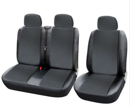 Negro cuero sintético 2+1 fundas para asientos ya referencias para nissan Opel peugeot Renault