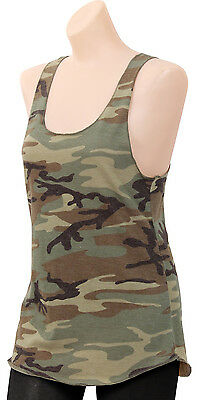 womens racerback tank top woodland camouflage camo rothco 44670