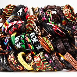 20pcs-Wholesale-lot-Mix-Styles-Leather-Bracelets-punk-Cuff-Men-039-s-Women-039-s-Jewelry