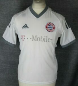 new style 02583 85d79 Details about VINTAGE BAYERN MUNICH AWAY FOOTBALL SHIRT 02-03 ADIDAS YOUTHS  RARE