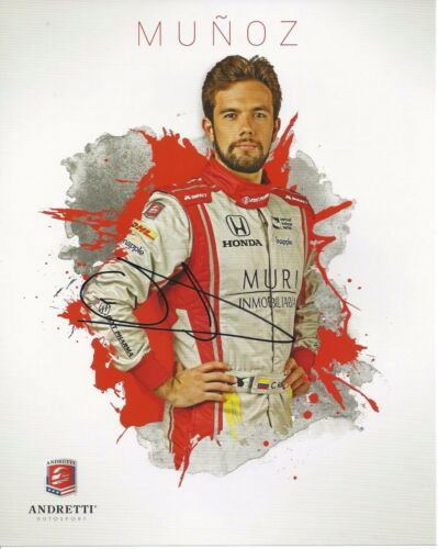 2016 Indy 500 CARLOS MUNOZ Hero Card SIGNED St Pete Grand Prix