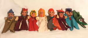 Punch-amp-Judy-Hand-Puppets-x-8-Vintage