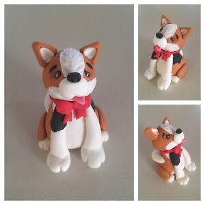 3D Fondant Cake Topper Corgi Dog - You can customise the ...