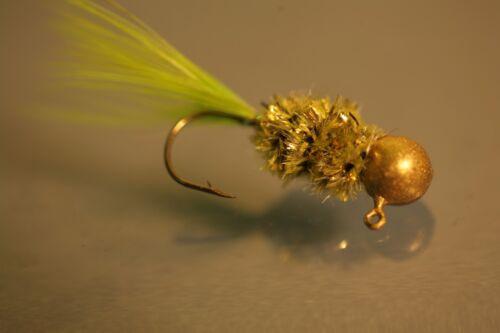 Golden-B Hand Tied crappie jig Mustad #32889 lite wire or a sickle hook