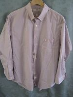 Etienne Aigner Maroon Stripe Dress Shirt Size 16.5 32/33