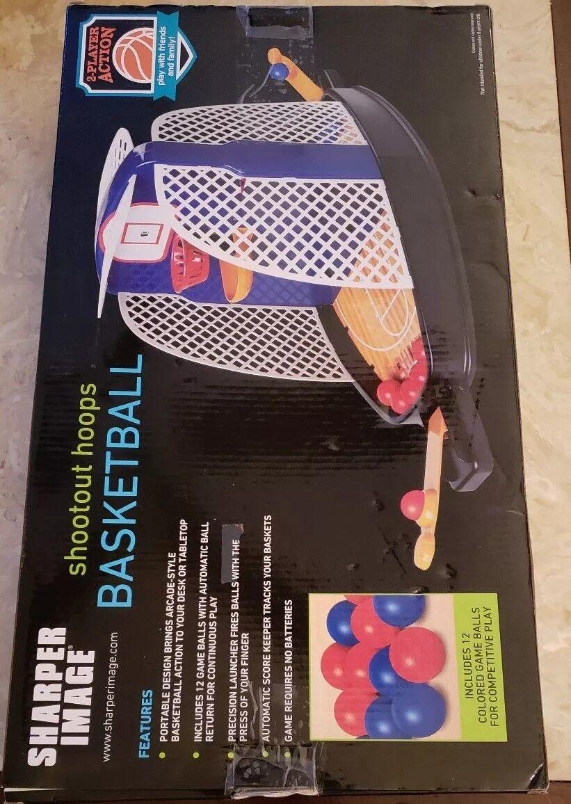 New Portable Sharper Image Mini Basketball Shootout Shootout Shootout hoops Tabletop ee2149